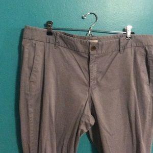 J crew gray stretch pants